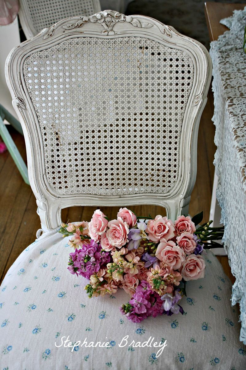 The Spanish Dahlia - My Darcy Chairs Got A Spring Makeover